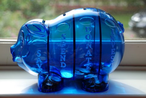 Teaching the adorables about saving the good stuff guide for 4 compartment piggy bank