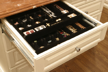 Velvet Jewelry with Sliding Tray