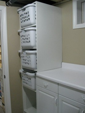 This Is The IKEA Pax Wardrobe Which Houses 4 Laundry Baskets For Whites Darks Towels And Permanent Press