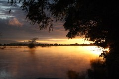 Sunset on Zambezi River, Ruckomechi Camp, Mana Pools National Park, Zimbabwe