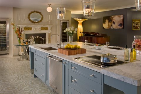 Kitchen magnificent the good stuff guide - Kitchen island with cooktop and prep sink ...