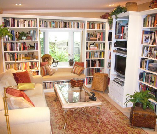 Home Library Window Seat
