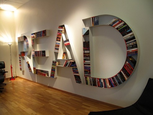 Yes Those Are Books Tucked Into All Letters It Would Be Fun To Display In A Public Library Too