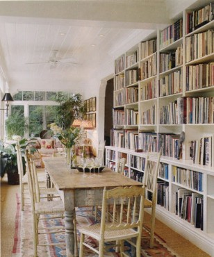 Thoughts On A Combined Library Dining Room