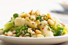 Rigatoni with Broccoli, Beans and Basil