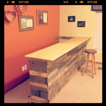 Basement Snack Bar From Old Pallets The Good Stuff Guide